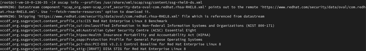 Another existing command is used to show the profiles contained in a data stream file, with the output showing the profile id:Title