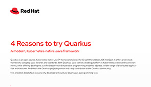 4 reasons to try Quarkus