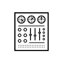 Control Panel Icon on white background