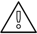 Icon with exclamation point inside triangle