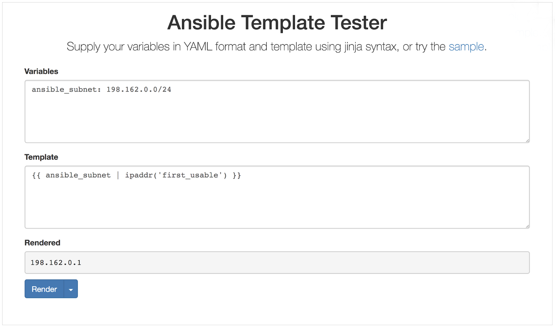 Ansible Template Tester