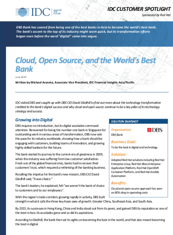 Resources: Cloud, Open Source and the World's Best Bank Two