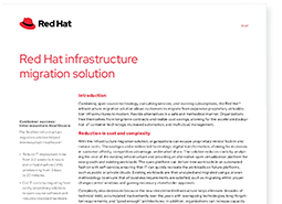 Red Hat infrastructure migration solution