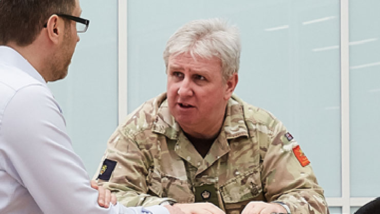 meeting with British army officers