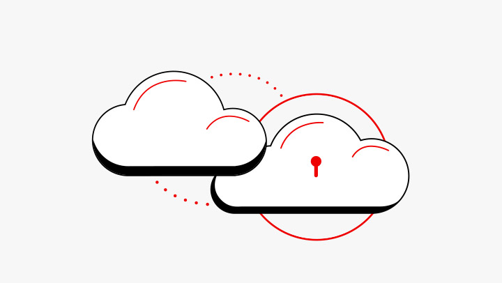 Open hybrid cloud illustration