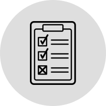 Icon representing rules on a clipboard