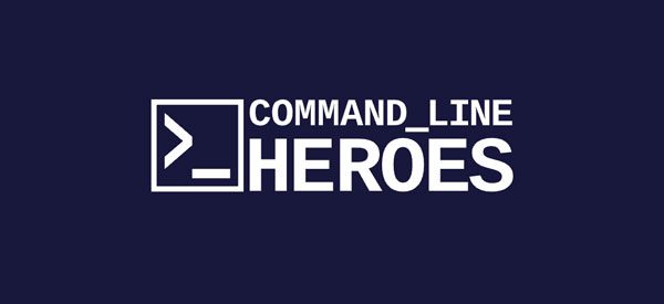 Command Line Heroes logo on purple background