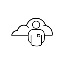 Icon representing cloud-native development