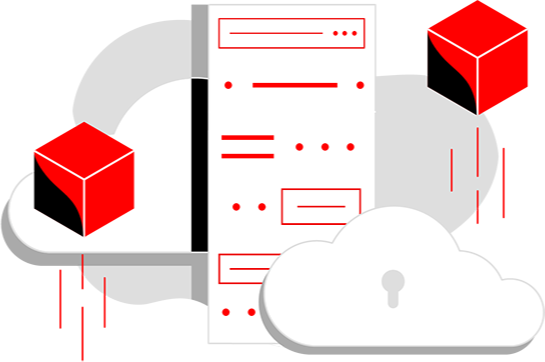 cloud server illustration