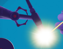 robot arm and bright light