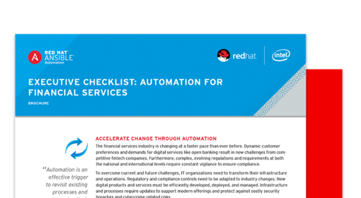 Image of downloadable documenet: Executive checklist: Automation for financial services