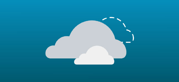 Hybrid cloud vector graphic