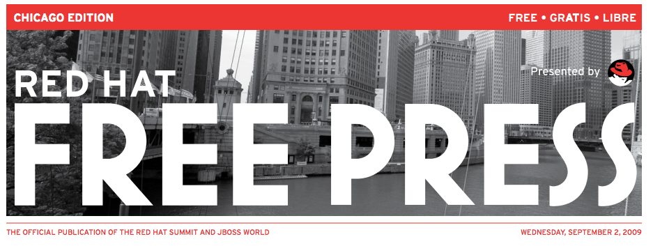 Red Hat Free Press header