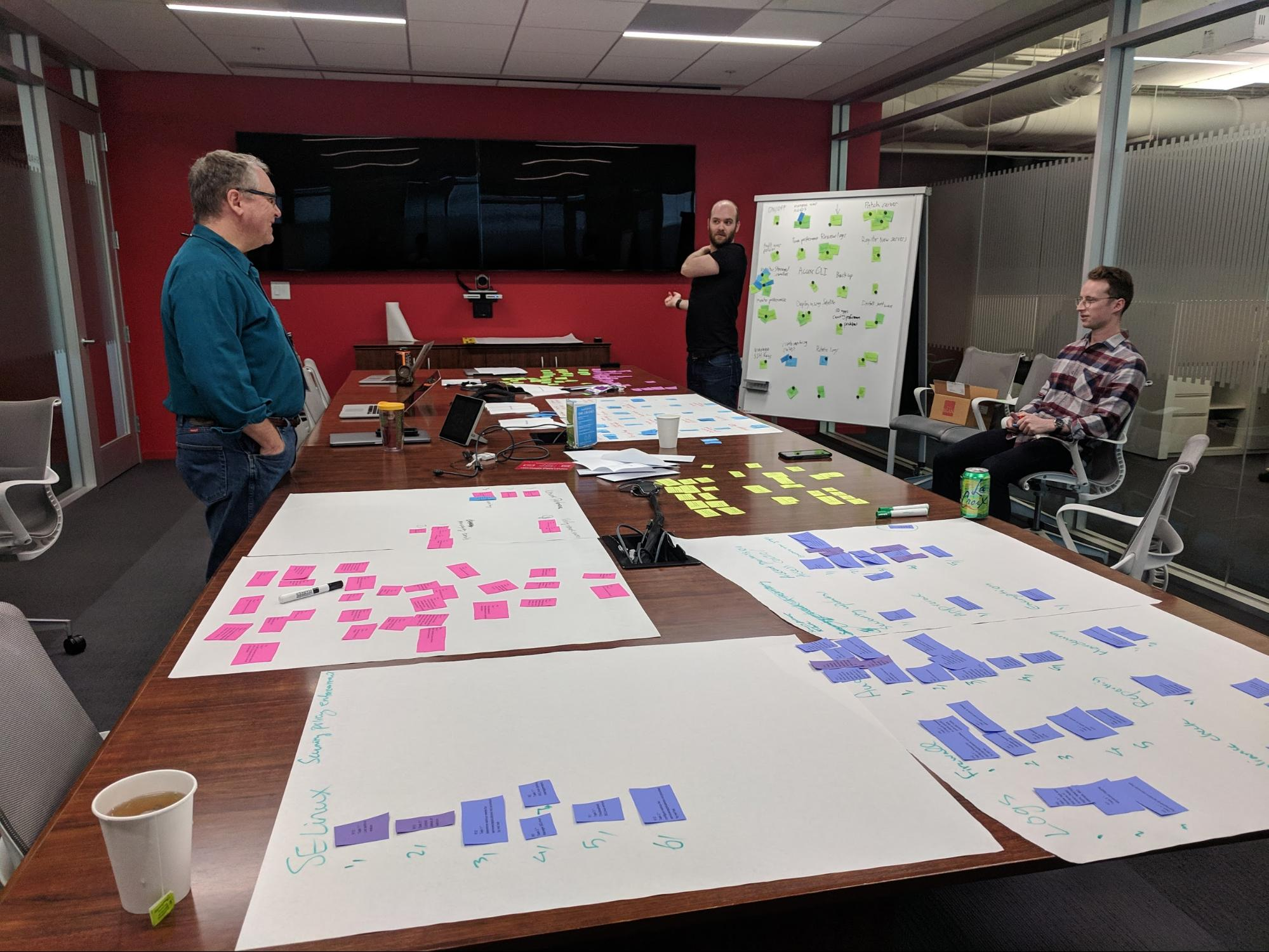 Affinity Diagramming of RHEL Tasks by Red Hat UX Research Team