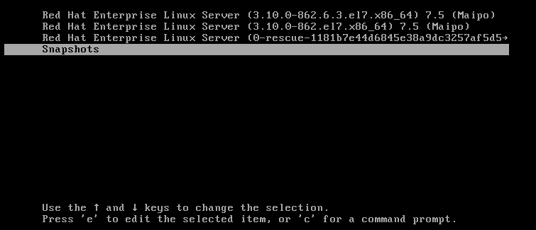 Fig. 1: Boom LVM Snapshot Boot