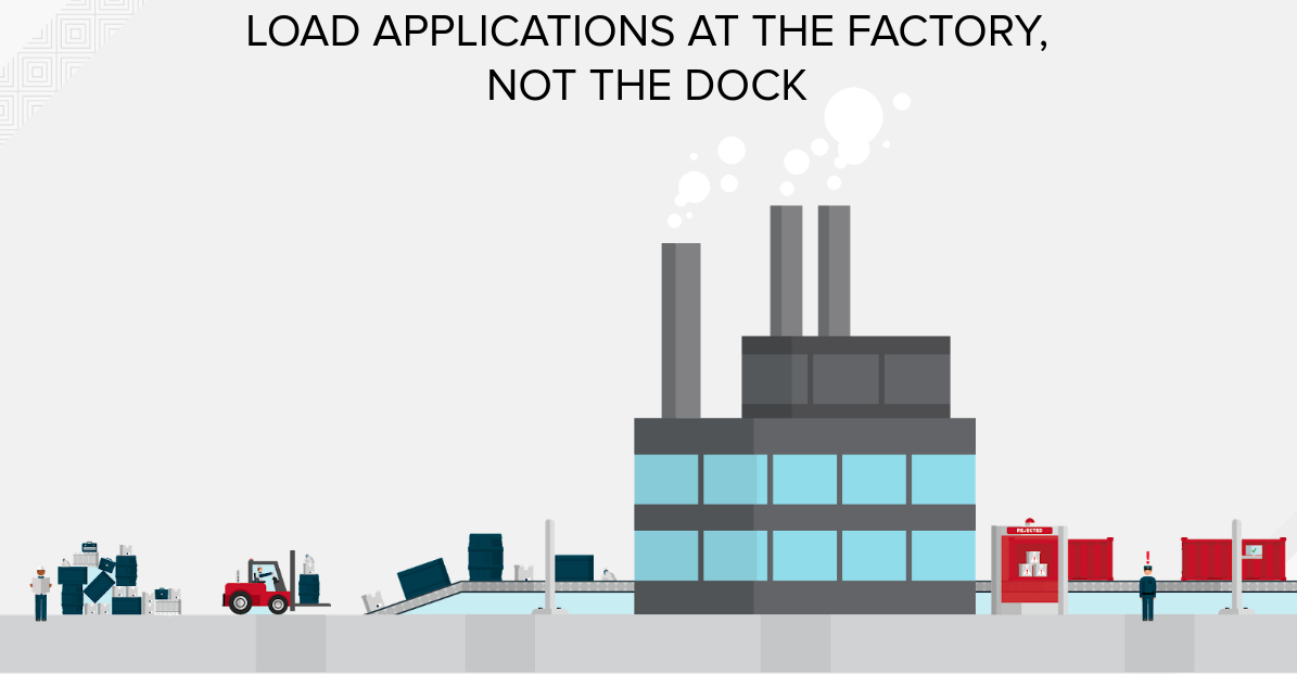 Load applications at the factory, not the doc slide