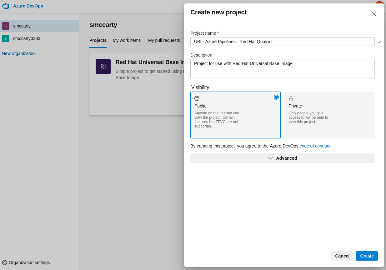 Creating a new repository in Azure Pipelines