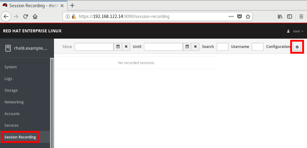 Web console in RHEL 8 Beta