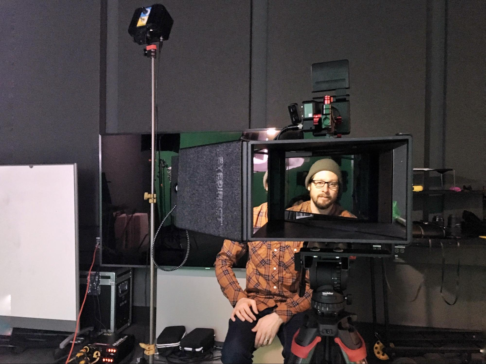 Testing the EyeDirect with Brett Abramsky. Photo credit: Kieran Moreira