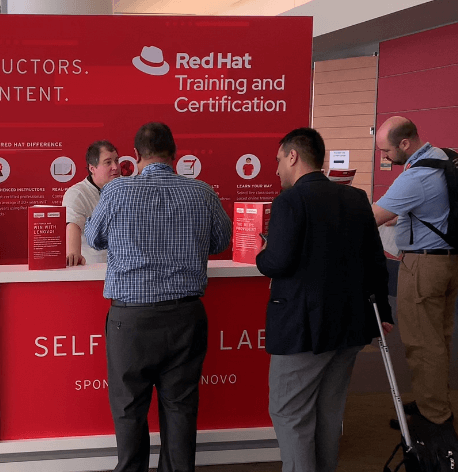Red Hat Training and Certification desk image