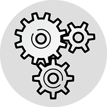 icon of interconnected gears