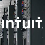 Intuit logo on image of data center