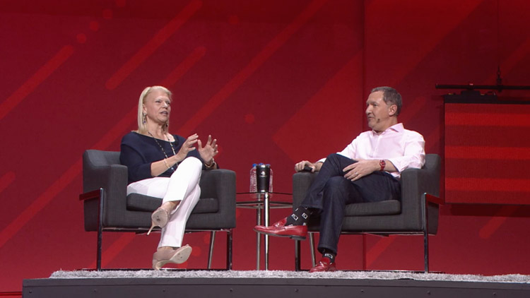 Jim Whitehurst and Ginni Rometty