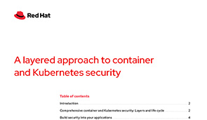 A Layered Approach Container and Kubernetes Security
