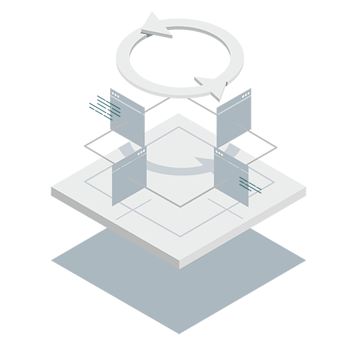 Application runtimes isometric icon