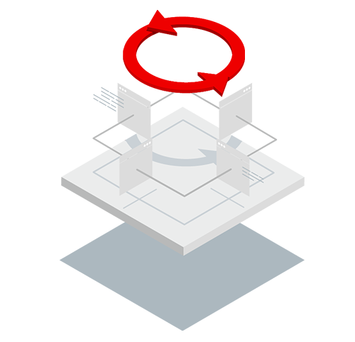 Red Hat Process Automation isometric icon