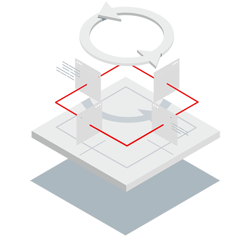 Red Hat Middleware integration isometric icon