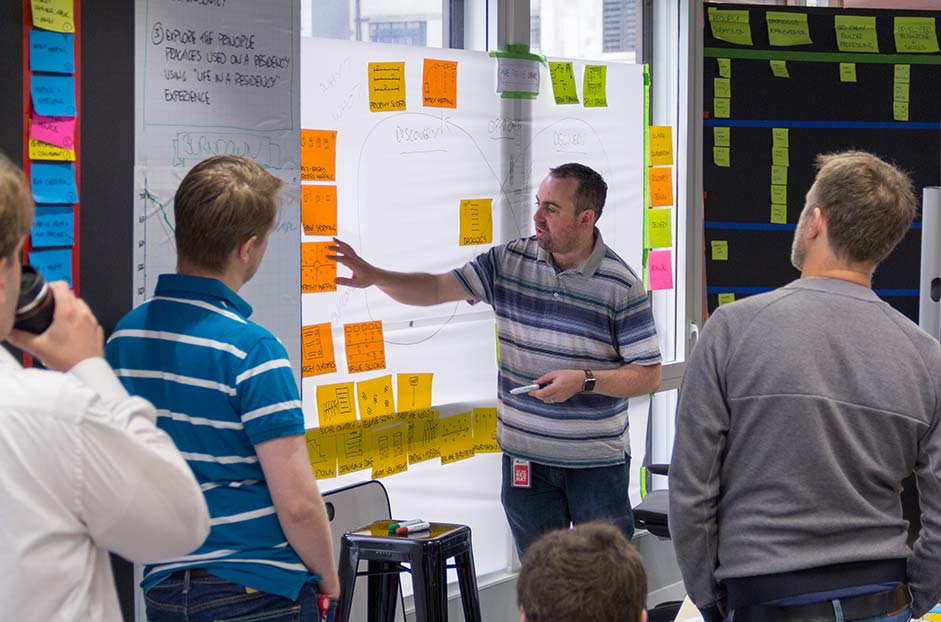 Open Innovation Labs participant sharing