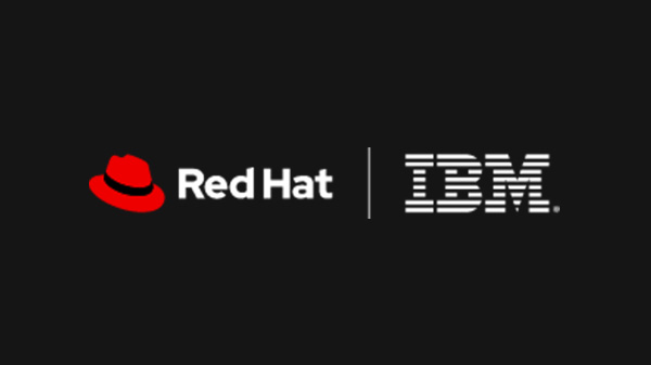 Red Hat logo and IBM logo