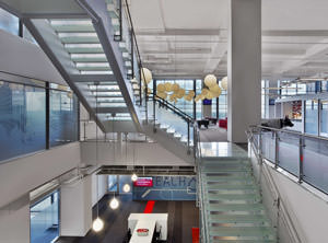 Interior shot of Red Hat Tower