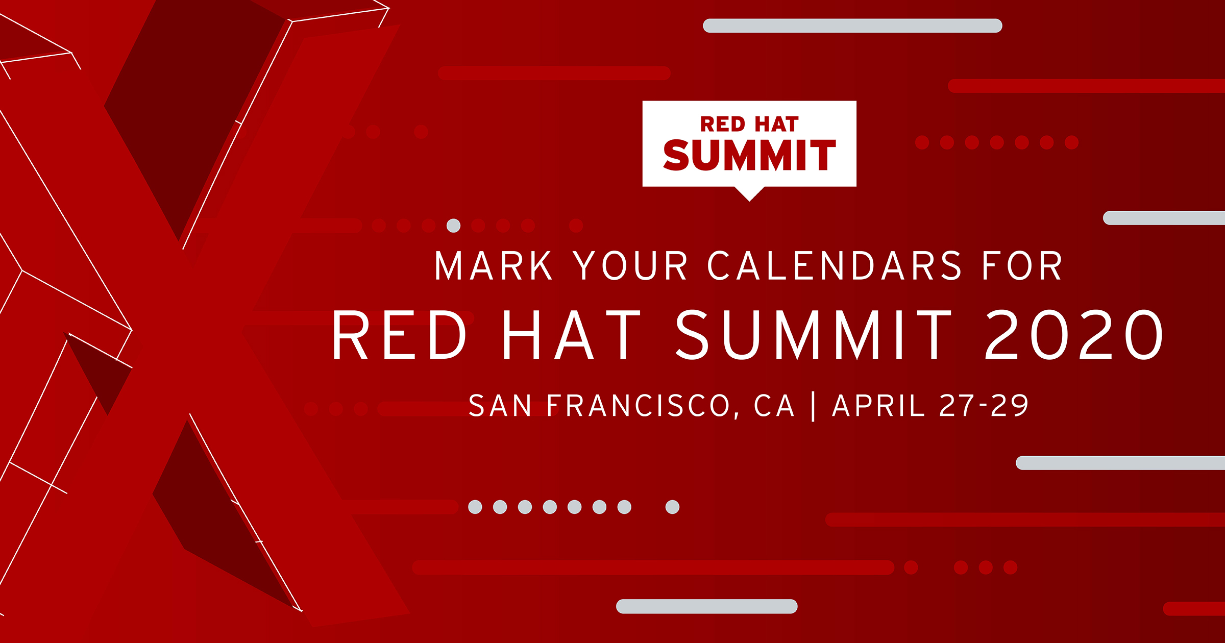 San Francisco Event Calendar 2020 Save the date for Red Hat Summit 2020