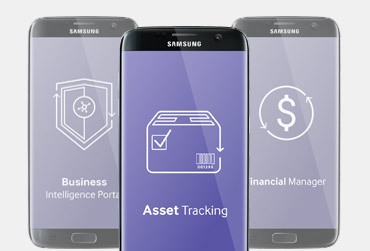 Samsung asset tracking app screenshot in focus