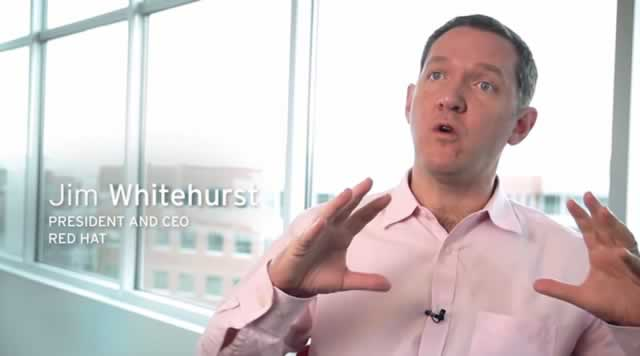 Red Hat open hybrid cloud video screencap