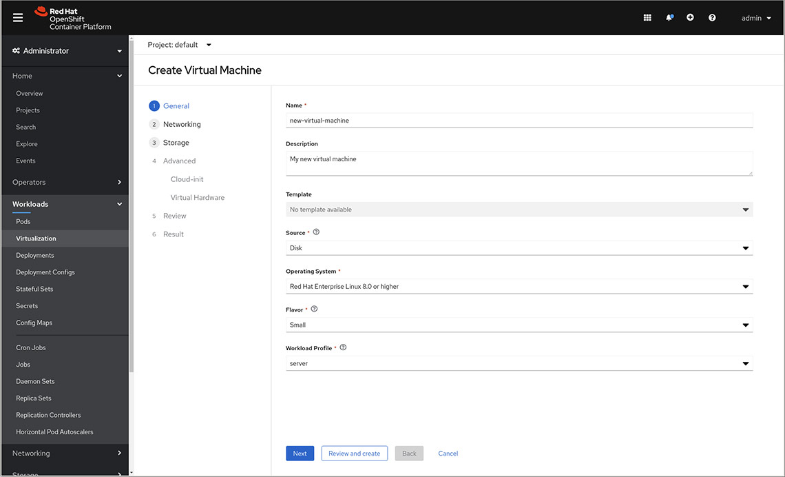 OpenShift screenshot