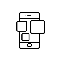 Icon representing modern user experience