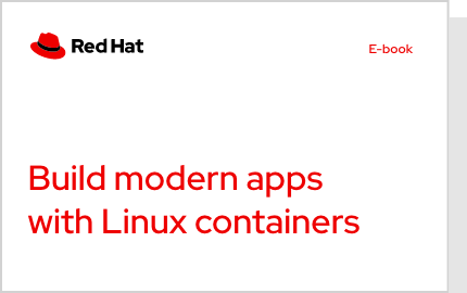 Build modern apps with linux containers ebook cover