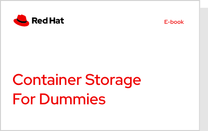 Container storage for Dummies e-book cover