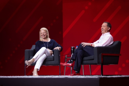 Jim Whitehurst and Ginny Rometty