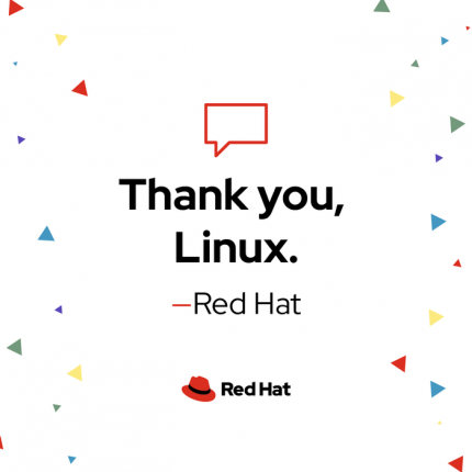 Thank you Linux (text graphic)