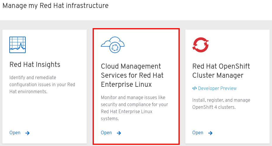 Cloud Management Services for Red Hat Enterprise Linux
