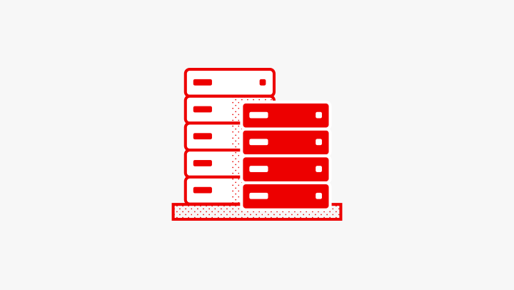 database server storage illustration