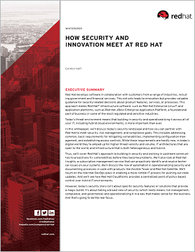 security and innovation at Red Hat