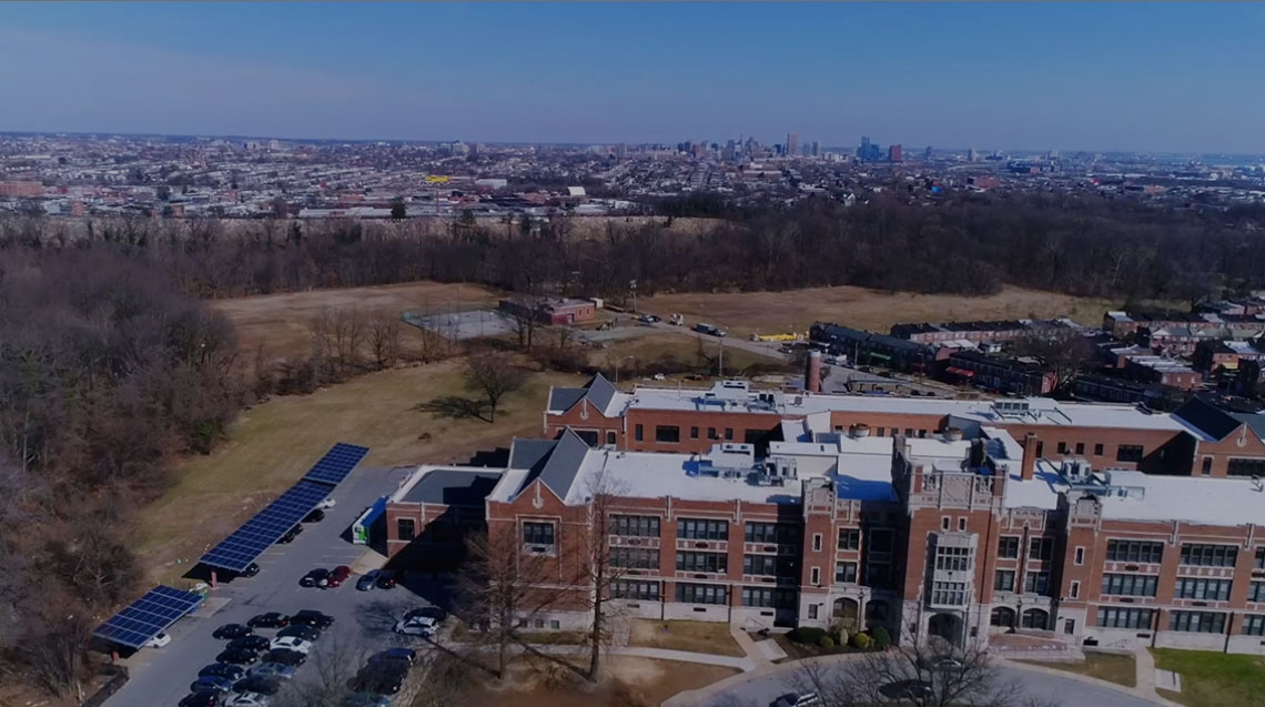 green street academy aerial photo
