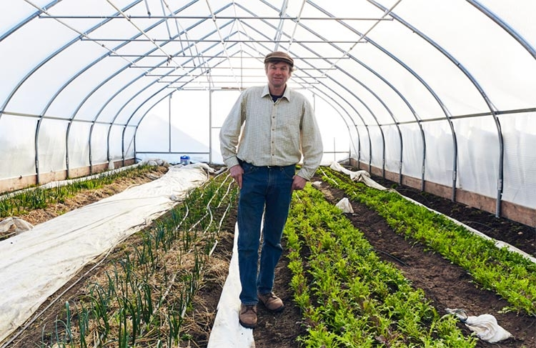 dorn cox in greenhouse