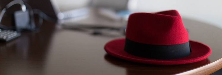 fedora on desk