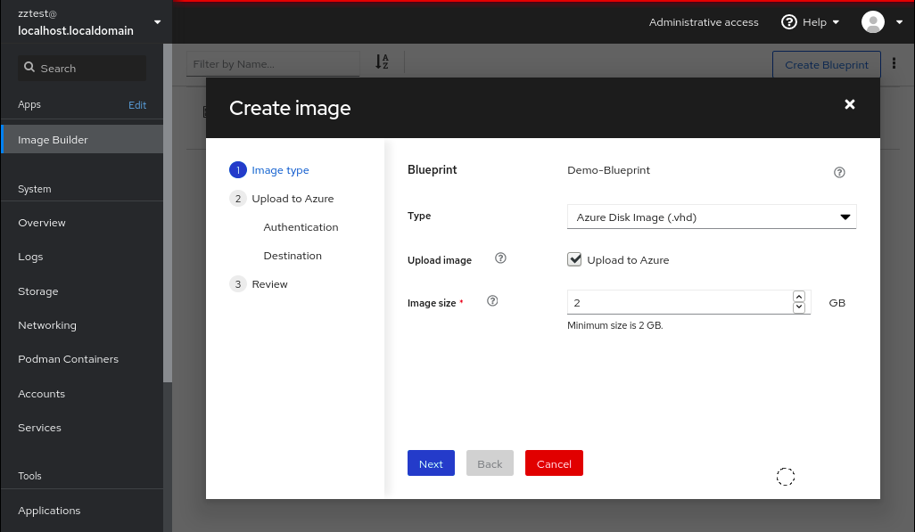 Deploying to the Azure cloud Image Builder 5